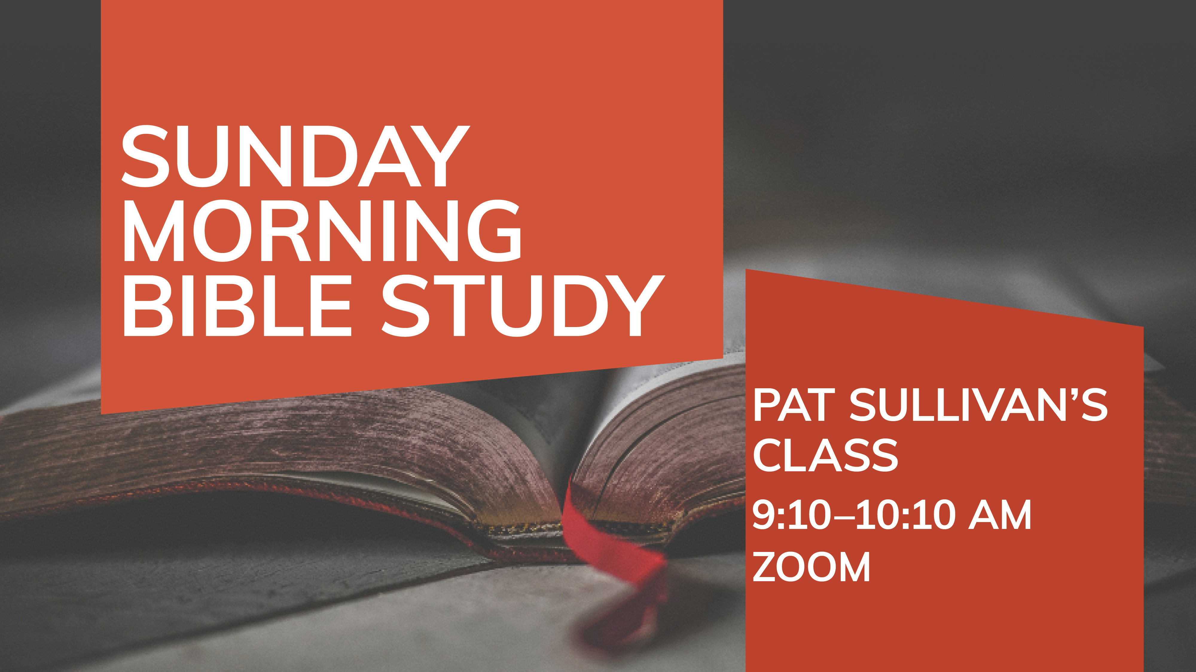 Small Groups/Bible Study Classes
