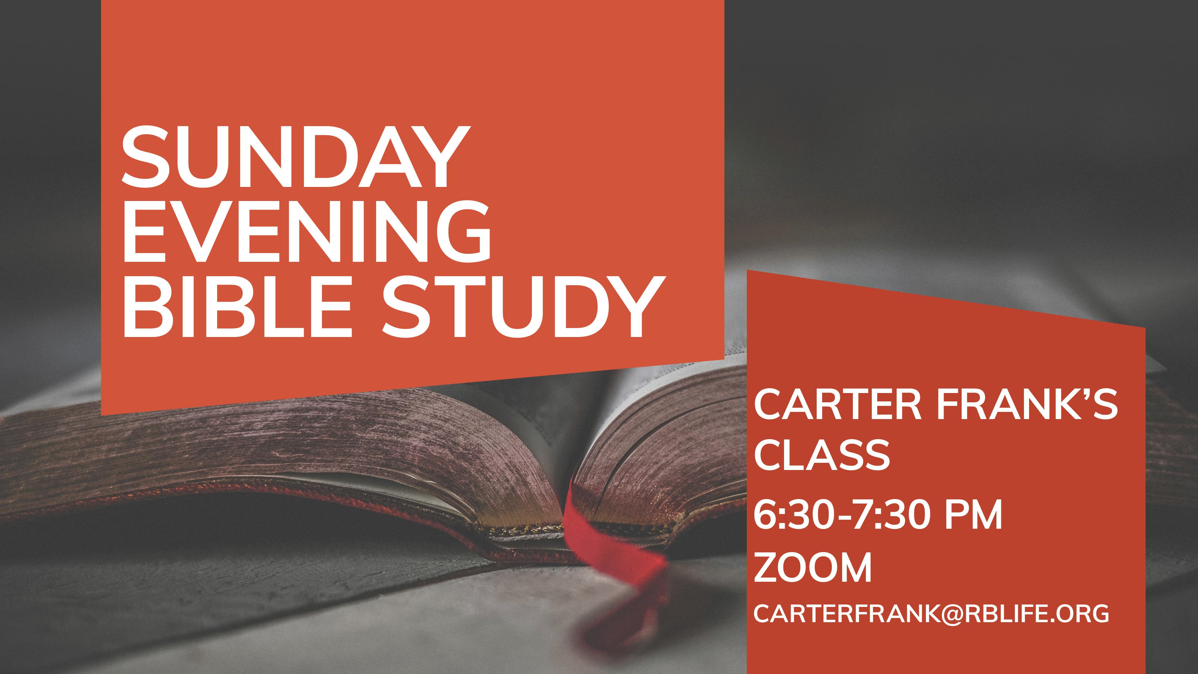 Bible Study/Carter Frank
