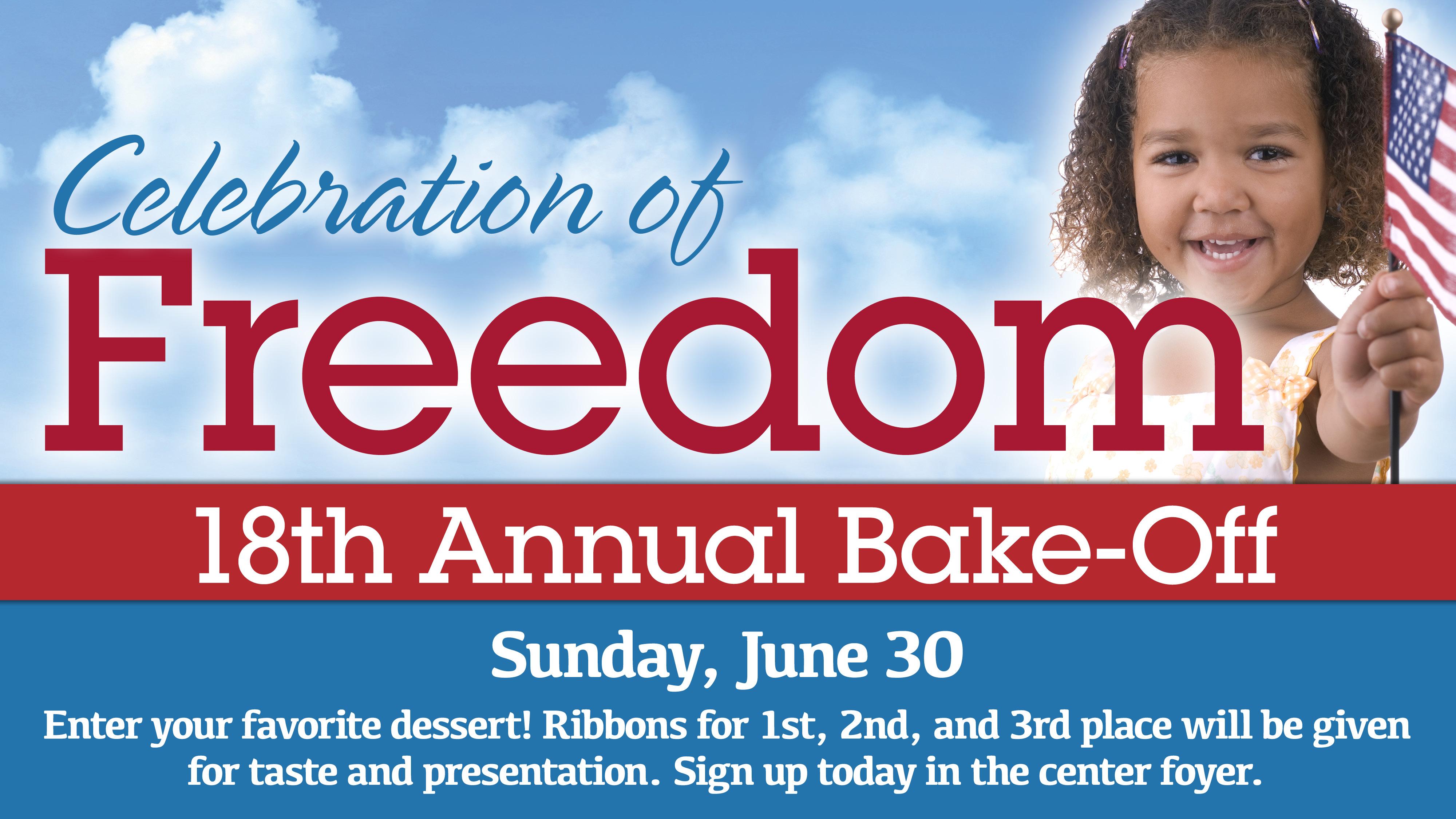 Celebration of Freedom Bake Off