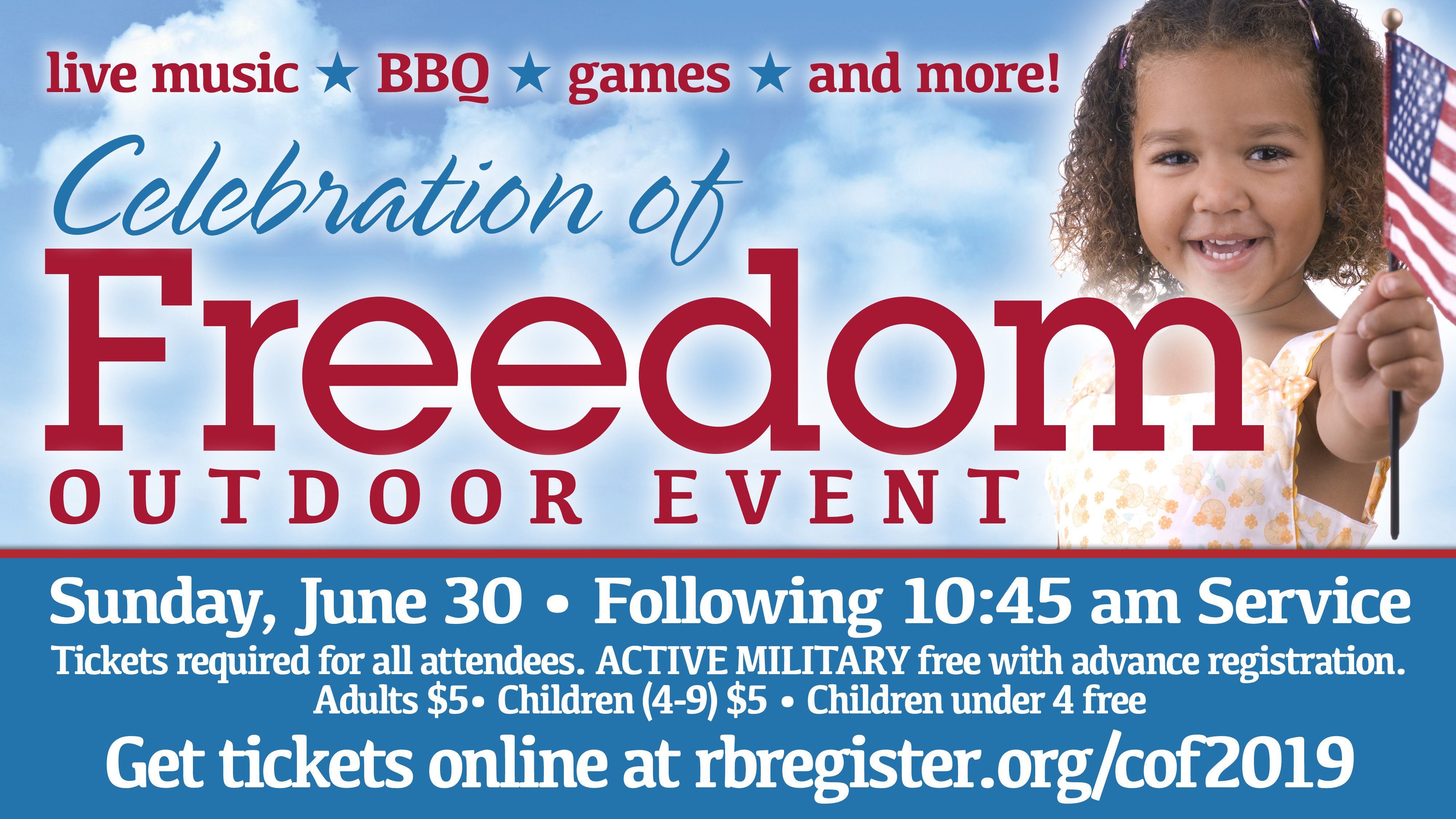 Celebration of Freedom Outdoor Event