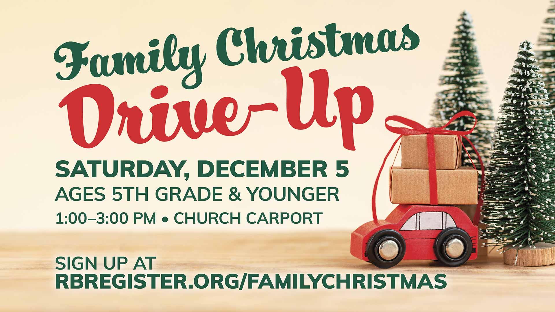 Family Christmas Drive-Up