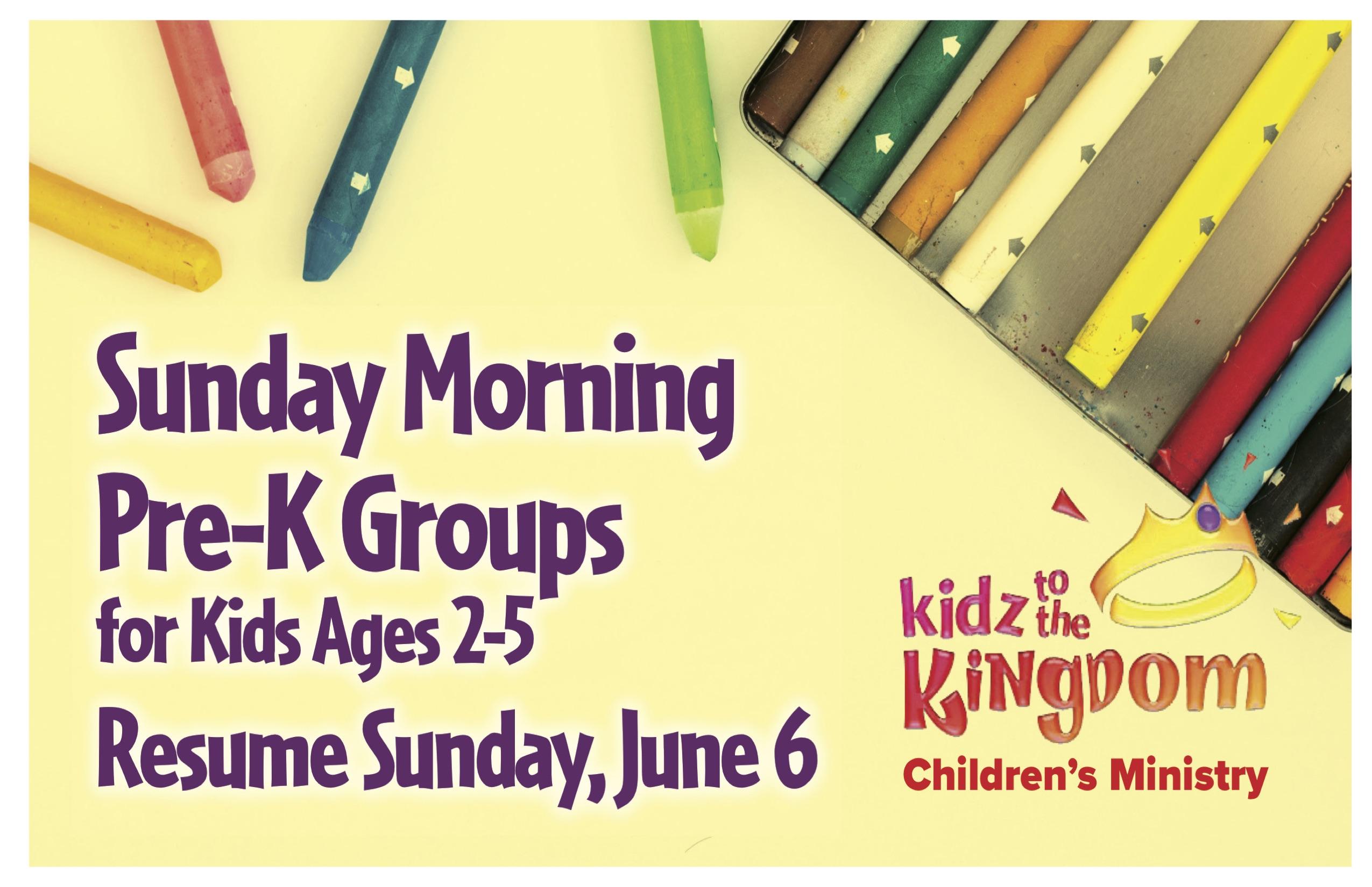 Sunday Morning Pre-K Groups class=