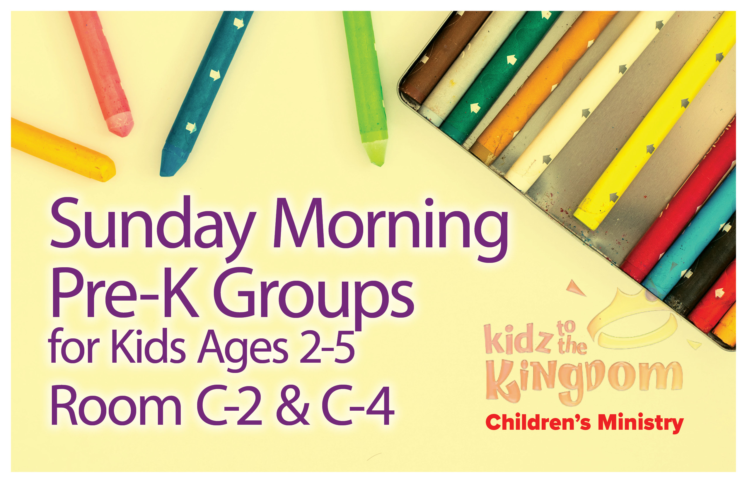 Sunday Morning Pre-K Groups