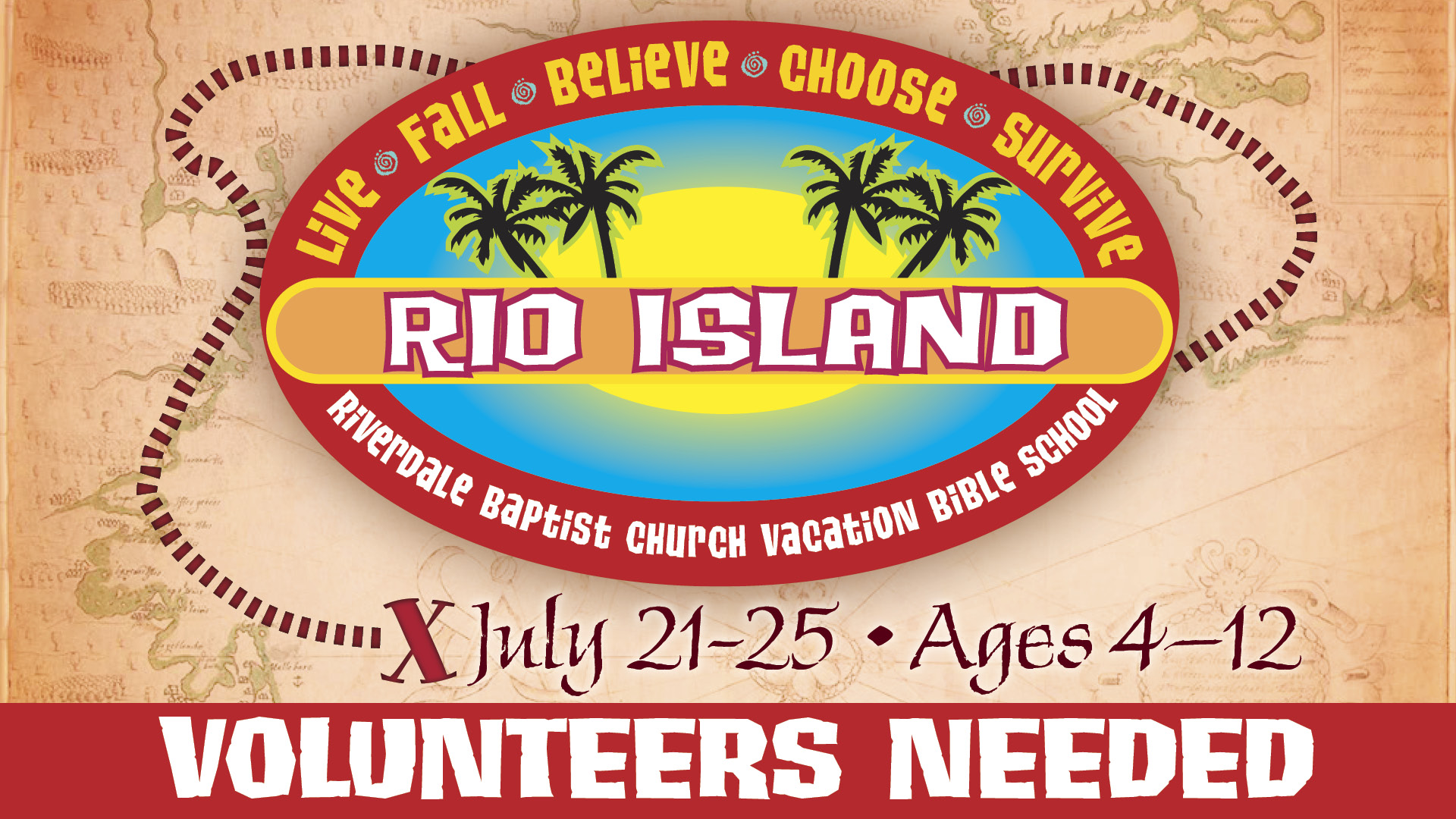 VBS Rio Island Volunteers Needed