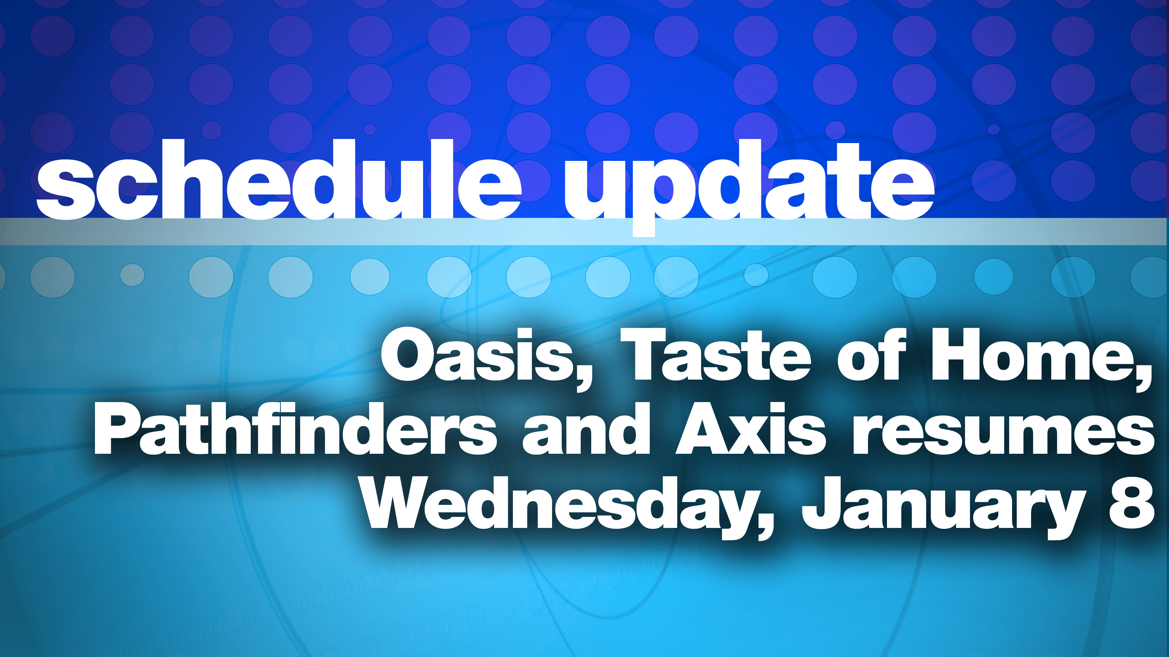 Schedule Update class=