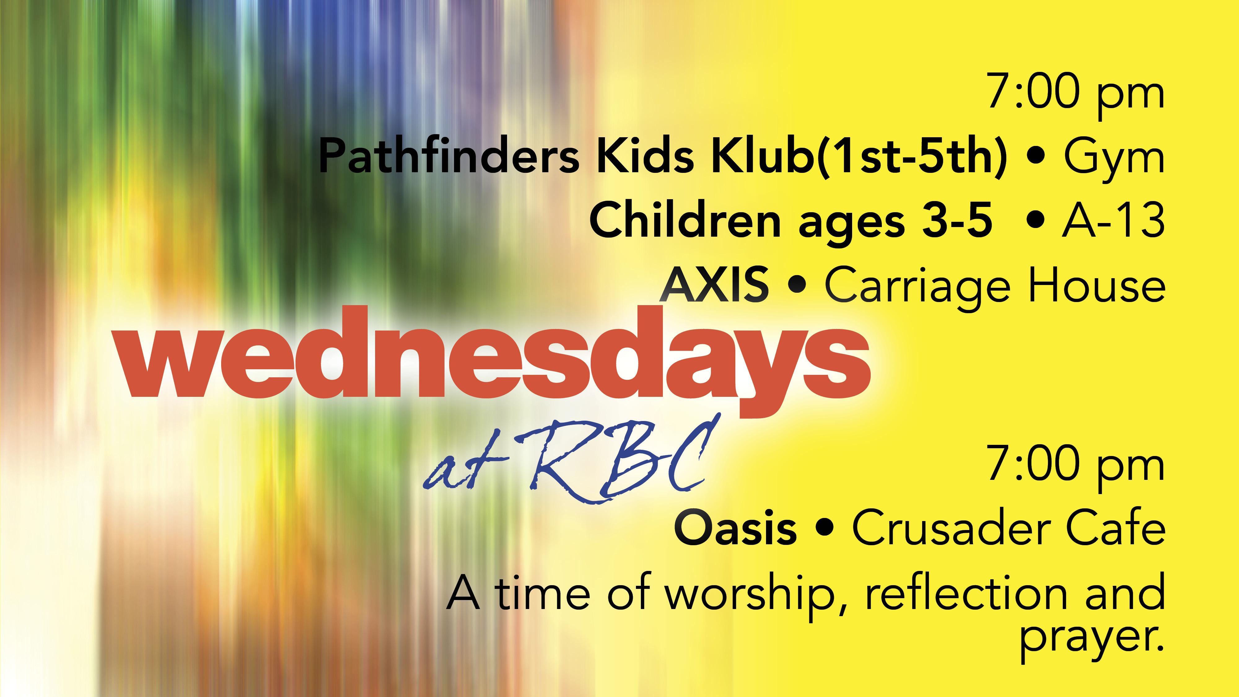 Wednesdays at RBC