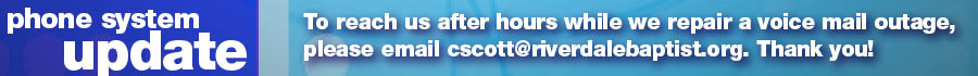 Please email Cathy Scott after hours while our voice mail is down.